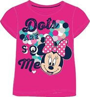Disney MINNIE MOUSE Short-Sleeved PINK T-Shirt/Top - NWT - 18 Months-8 Years