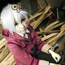 Anime For Future City NO. 6 Shion Men Halloween White Layered Cosplay Wig+Cap