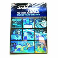 Star Trek The Next Generation Hologram 3D Sticker made in England 1992