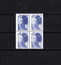 variété  timbre France  Liberté de Delacroix 70c bleu double frappe NUM: 2240 **