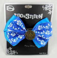 Disney Lilo & Stitch Button Hibiscus Cosplay Hair Bow Pin Clip Costume Dress-Up