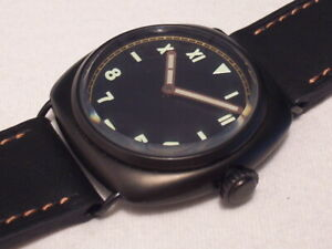 RWC 1938B BLK LIMITED EDITION OF 200 PC, 45 MM, SWISS UNITAS 6497, EXCELLENT