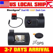 "Mini 1.5"" TFT 0906 Dual Dash Camera Rear Cam Dashboard Recorder GPS Tracker HD"