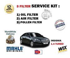 para Opel Insignia 1.4 Turbo 2011- > NUEVO Filtro De Polen Aire Aceite serive
