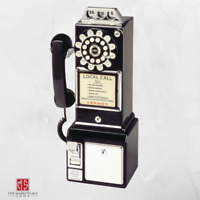 Vintage Dial Payphone Rotary Style Retro Look Coin Bank Dropping Telephone Multi
