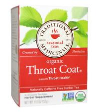 NEW TRADITIONAL MEDICINALS SEASONAL TEAS ORGANIC THROAT COAT CAFFEINE FREE DRINK