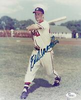 BRAVES Eddie Mathews signed 8x10 photo JSA COA AUTO HOF (D) Autographed Milwauke