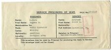 USA 1940s Red Cross Prisoners of War cover to Woosung Camp Shanghai China