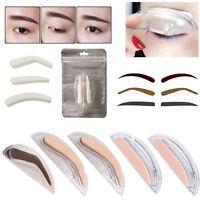 2017 New Eyebrow Shadow Definition Makeup Eye Brow Powder Stamp Stencil 3 Styles