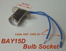 10pcs BAY15D 1157 Bayonet Light Bulb Brake Lights Socket ( bay15d ) Ver A