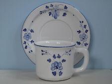 Herend Village Pottery Kaffeetasse + UN blaue Blumen Hungary Ungarn Keramik