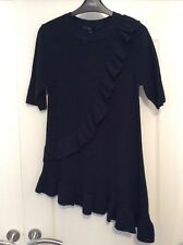 New NEXT Smart Long Navy High Quality Short Sleeve Knitted Top Size 14/16