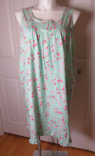 "St Eve 100% Cotton Sleeveless Floral Print Nightgown Size 3X Bust 52"" Hip 62"""