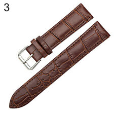 Womens Men Unisex Faux Leather Watch Strap Buckle Band Black Brown White Reliabl