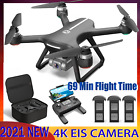 Holy Stone GPS RC Drone with EIS Anti Shake 4K HD Camera 3 Batteries Quadcopter