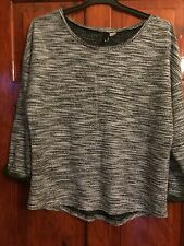 Ladies H&M Large Black, Grey And Sliver Sparkle Jumper