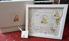CLASSIC Winnie The Pooh Disney Photo Frame Baby Nascita Baby Shower Battesimo