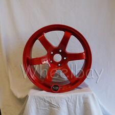 4 Rota Wheel Grid 18x95 5x100 38 73 Red Wrx Sti Brz Frs Last Set