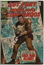 Marvel Comics Sgt. Fury and his Howling Commandos #74 VG- Jan. 1970