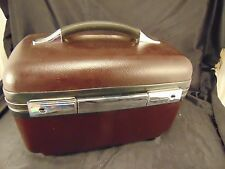 American Tourister makeup jewelry case dark brown tray carry on travel luggage