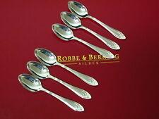 ROBBE BERKING ARCADE GOLDBAND 6x MOKKA MOCCA ESPRESSO LÖFFEL 925 STERLING SILBER