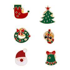 8bf211d62c1 6pcs Christmas Tree Snowflake Bell Stocking Enamel Brooch Pin Badges for Cl  L8V9
