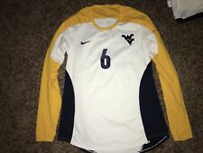 Nike West Virginia Mountaineers #6 Womens Volleyball L/S White Game Jersey *L*