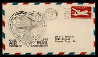 DR WHO 1948 FIRST SOUVENIR HELICOPTER FLIGHT KANSAS CITY MO STATIONERY 182777