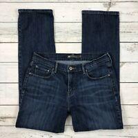 Levis 505 Straight Leg Jeans Size 10 Womens Dark Wash Stretch Denim