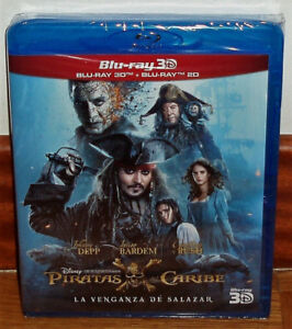 Pirates of the Caribbean Revenge Of Salazar Blu-Ray 3D + Blu-Ray New (No Open)