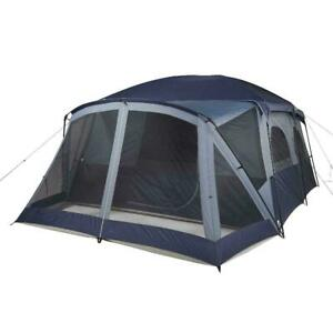 12-Person Cabin Tent, With Screen Porch And 2 Entrances