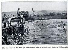 1915 Russsich-Polen * Militärverwaltung legt Badeanstalt an *  WW1