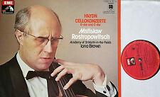 HAYDN Cellokonzerte Cello Concertos Rostropovich Brown LP EMI Quadrophonie NM