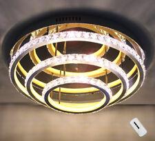 XL Deckenlampe Deckenleuchte Kristall Led Kronleuchter Wohnzimmer Licht 50cm 60W