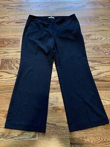 Ann Taylor Loft Petites Black Dress Pants Flare Leg Size 12P