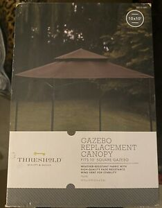 ✅ Threshold Madaga Collection Replacement Gazebo Canopy Fits 10' Square TAUPE