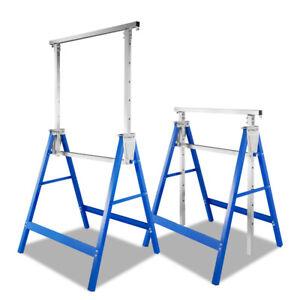 Gerüstbock Metallbock Gerüst Teleskop-Klappbock Stahl Arbeitsbock bis 200kg 2x