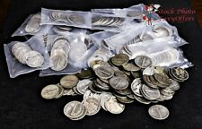 Lot of 10 Pre 1965 Mercury Dimes, 90% Silver, Assorted Dates & Mint Marks