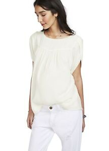Hatch Maternity Women's THE TULIP BLOUSE Ivory Size 1 (S/4-6) NEW
