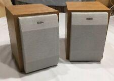 Set of 2 Philips FWB-MC50/17 Wood Bookshelf Wired Speakers Deep Bass Nice Sound