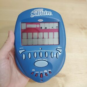 Radica Big Screen Solitaire Blue Handheld Electronic Game 2004 ~ TESTED & WORKS