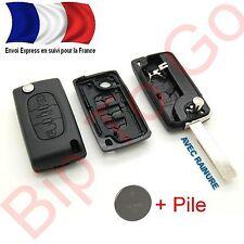 COQUE PLIP TELECOMMANDE CE0536 + PILE  PEUGEOT 307 308 407 607 3 BOUTONS + LAME