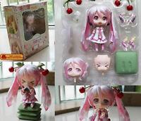 """VOCALOID Nendoroid 274# Sakura Hatsune Miku 4"""" Figure Face Chageable Gift toy"""