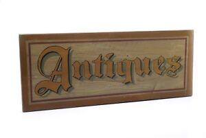 Wood Vintage Look ANTIQUES Sign