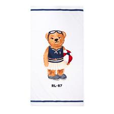 "NWT- POLO RALPH LAUREN Beach Towel Girl ""BEACH Ball  POLO BEAR RL-67"" 35x66 NEw"