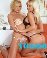 Jana Cova - 10x8 inch Photograph #004 with Blonde Friend in Underwear