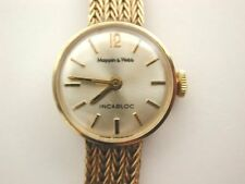 Fabulous 1979 Solid 9ct Gold Top Make MAPPIN & WEBB Watch on 9ct Gold Bracelet
