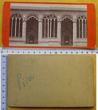 Stereophoto ed. G. Brogi 1870/1890 - Pisa Architettura della Porta d'Ingresso CS