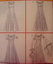 SEWING PATTERN McCalls 4491 RENAISSANCE MEDIEVAL LOTR ARWEN DRESS sz 6-12
