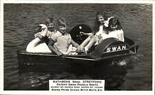 Stretford, Manchester. Rathbone Bros Swan Paddle Boats by T.W.Stephenson, Str~.